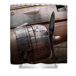 Shower Curtain featuring the photograph Plane - A Little Rough Around The Edges by Mike Savad