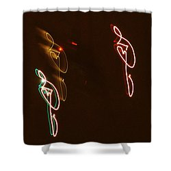 Plane Signatures Shower Curtain