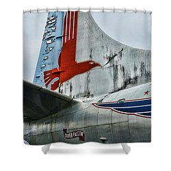 Plane Tail Wing Eastern Air Lines Shower Curtain by Paul Ward