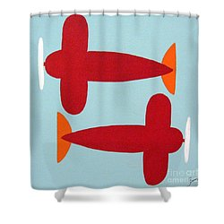 Planes  Shower Curtain by Graciela Castro