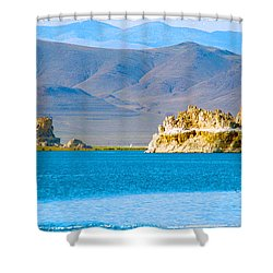 Planet Pyramid Shower Curtain
