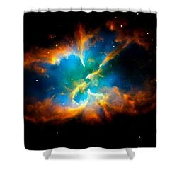 Planetary Nebula Shower Curtain by Amanda Struz