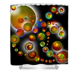 Planets Aligned Shower Curtain
