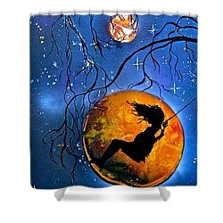 Planet Swing Shower Curtain