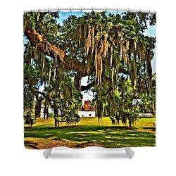 Plantation Oil Shower Curtain by Steve Harrington