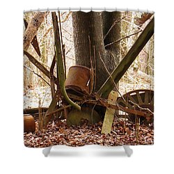 Shower Curtain featuring the photograph Planted Planter by Nick Kirby