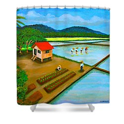 Planting Season Shower Curtain