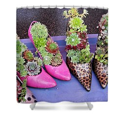 Plants In Pumps Shower Curtain