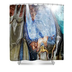 Plastic Wrap Shower Curtain