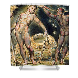 Plate 100 From Jerusalem Shower Curtain by William Blake
