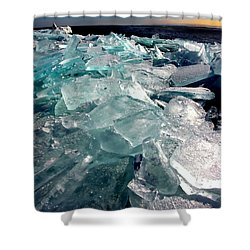 Plate Ice  Shower Curtain