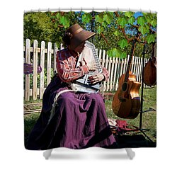 Play A Song For Me Shower Curtain by Liane Wright