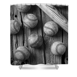Play Ball Shower Curtain by Garry Gay
