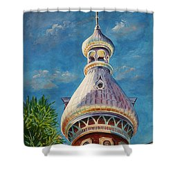Play Of Light - University Of Tampa Shower Curtain by Roxanne Tobaison