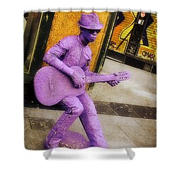 Play The Music - Madrid Shower Curtain by Mary Machare