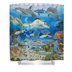 Play Time Re0018 Shower Curtain by Carey Chen