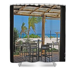 Playa Blanca Restaurant Bar Area Punta Cana Dominican Republic Shower Curtain