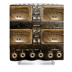 Playback Recording Vu Meters Grunge Shower Curtain