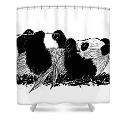 Playful Panda Shower Curtain