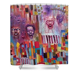 Playground Of The Undead Shower Curtain by Jason Williamson