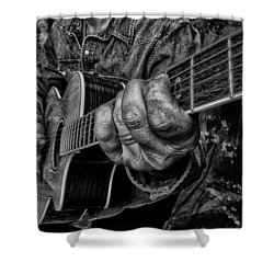 Playin The Blues Shower Curtain by Kevin Cable