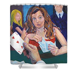 Playing Cards Shower Curtain by Mike Jory