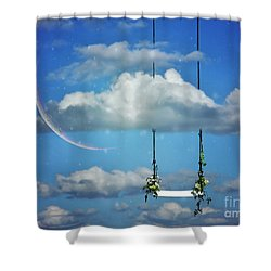 Playing In The Clouds Shower Curtain