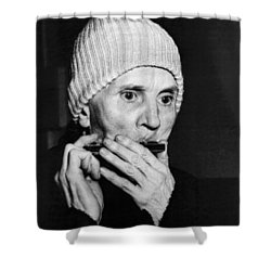 Playing On The Streets For Pennies Shower Curtain by Underwood Archives
