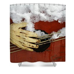 Playing The Cold Blues Shower Curtain