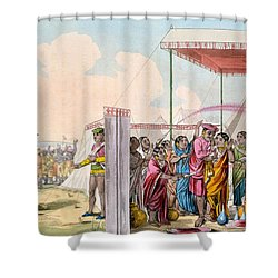 Playing The Hohlee, From The Costume Shower Curtain by Deen Alee