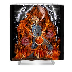 Playing With Fire Shower Curtain by Glenn Holbrook
