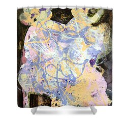 Playing With Grandma Shower Curtain by Marilyn Jacobson