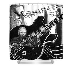 Playing With Lucille - Bb King Shower Curtain