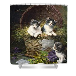Playtime Shower Curtain by Leon Charles Huber