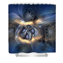 Shower Curtain featuring the digital art Pleasant Effusion by Casey Kotas
