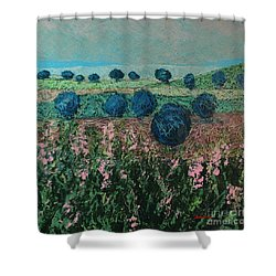 Pleasant Meadows Shower Curtain by Allan P Friedlander