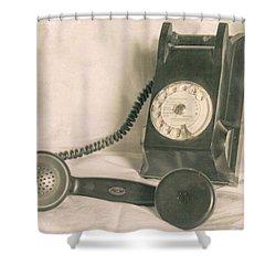 Please Call Shower Curtain by Georgia Fowler
