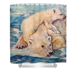 You Need Another Nap, Polar Bears Shower Curtain