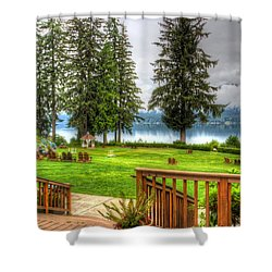 Please Take Me Back Shower Curtain by Heidi Smith