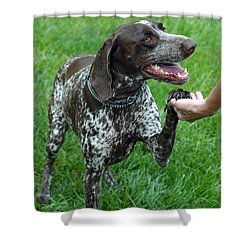 Pleased To Meet You Shower Curtain by Lisa Phillips