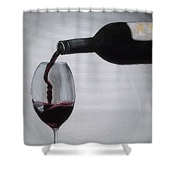 Pleasure In A Glass Shower Curtain by Melissa Torres