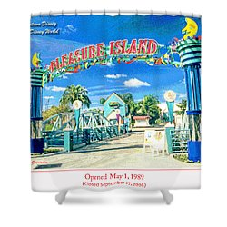 Pleasure Island Sign And Walkway Downtown Disney Shower Curtain