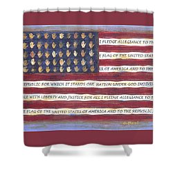 Pledge Flag Shower Curtain