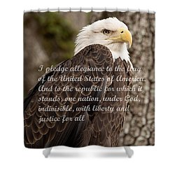 Pledge Of Allegiance Shower Curtain by John Black