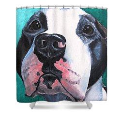 Pleeeaaasssseee? Shower Curtain by Debbie Finley