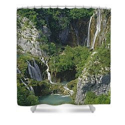 Shower Curtain featuring the photograph Plitvice Lakes In Croatia by Rudi Prott