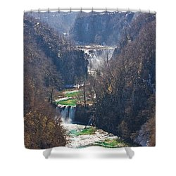 Plitvice Lakes National Park Canyon Shower Curtain