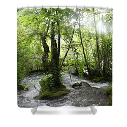 Shower Curtain featuring the photograph Plitvice Lakes by Travel Pics