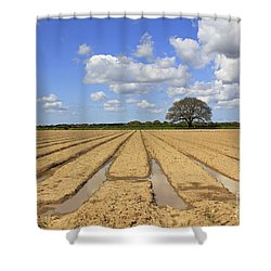 Ploughed Field Shower Curtain