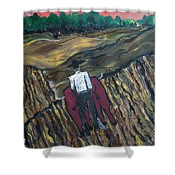 Plow Til' Dawn Shower Curtain